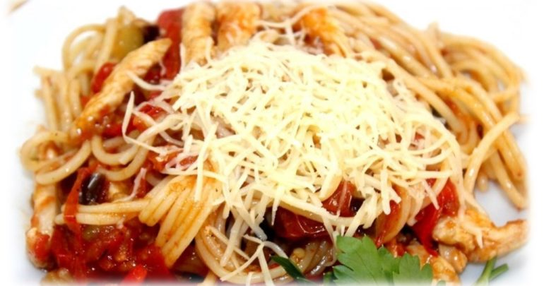 Pasta with dried tomatoes and cedar nut oil