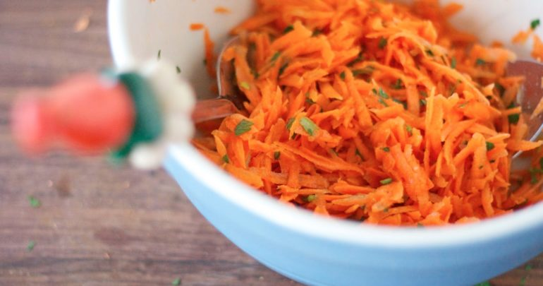 Carrot salad with Cedar Nut Oil