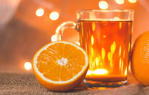 Invigorating orange tea